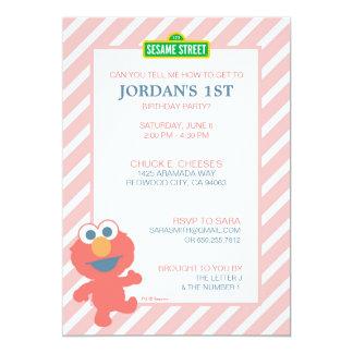 """Cumpleaños del bebé de Elmo Invitación 5"""" X 7"""""""
