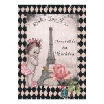 Cumpleaños del bebé de la princesa torre Eiffel de