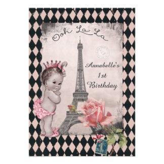 Cumpleaños del bebé de la princesa torre Eiffel Comunicados