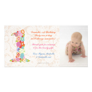 Cumpleaños del bebé de los bebés el 1r le agradece tarjeta personal