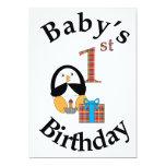Cumpleaños del bebé del pingüino el 1r comunicados