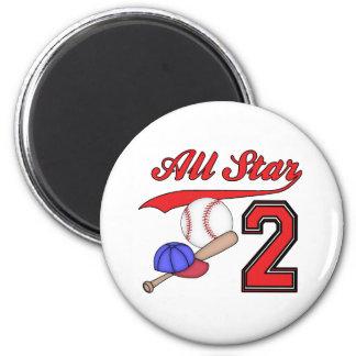 Cumpleaños del béisbol de All Star 2do Imán Redondo 5 Cm