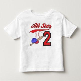 Cumpleaños del béisbol de All Star 2do Playera De Bebé