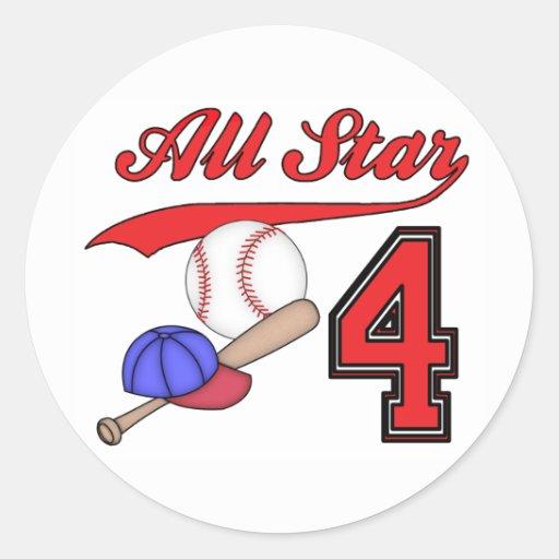 Cumpleaños del béisbol de All Star 4to Etiqueta