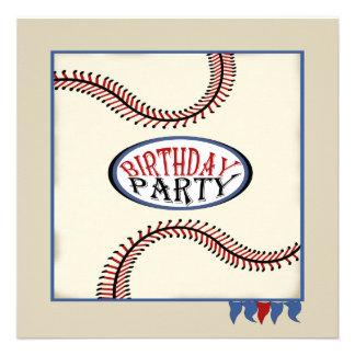 Cumpleaños del béisbol de la ciudad natal invitación personalizada