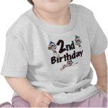 Cumpleaños del béisbol del mono del calcetín camisetas
