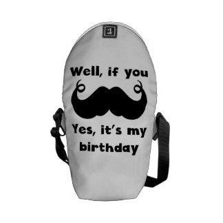 Cumpleaños del bigote bolsas de mensajeria