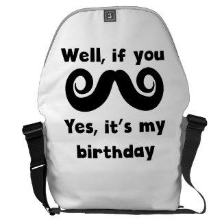 Cumpleaños del bigote bolsas de mensajería