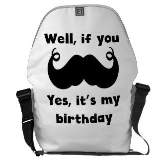 Cumpleaños del bigote bolsas messenger