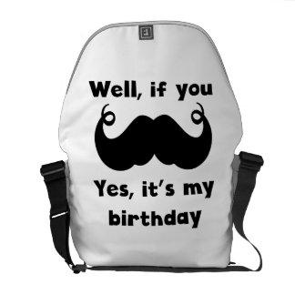 Cumpleaños del bigote bolsa de mensajería