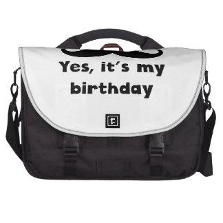 Cumpleaños del bigote bolsa de ordenador
