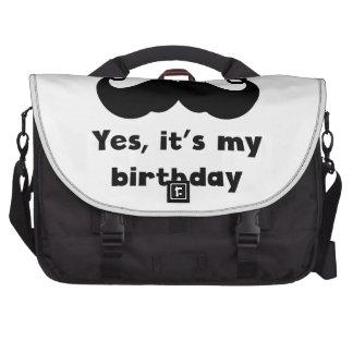 Cumpleaños del bigote bolsas de portatil