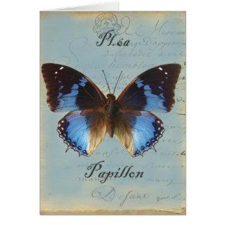 Cumpleaños del bleu de Papillon feliz Felicitacion