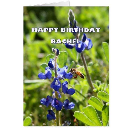 Cumpleaños del Bluebonnet de Raquel Tejas feliz Tarjeta De Felicitación