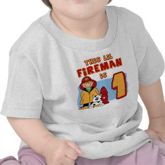 Cumpleaños del bombero de Lil 1r Camiseta