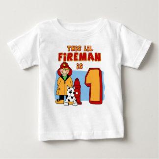 Cumpleaños del bombero de Lil 1r Playera De Bebé