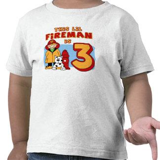 Cumpleaños del bombero de Lil 3ro Camisetas