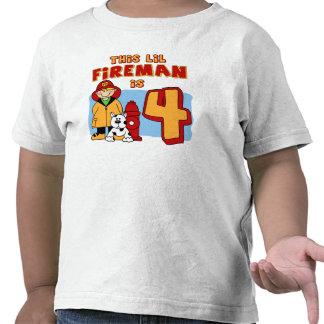 Cumpleaños del bombero de Lil 4to Camisetas