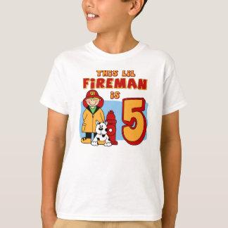 Cumpleaños del bombero de Lil 5to Playera