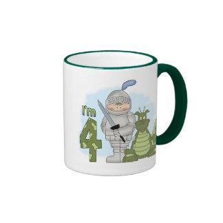 Cumpleaños del caballero del dragón 4to tazas de café