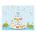 Cumpleaños del camaleón postal