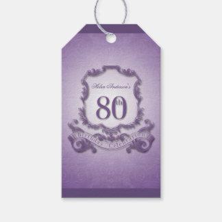 Cumpleaños del capítulo del vintage 80.o - gracias etiquetas para regalos