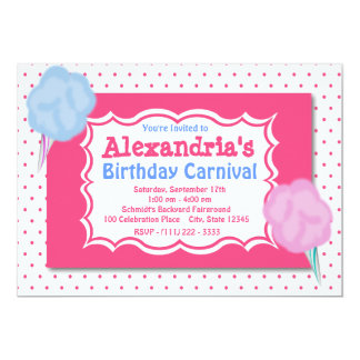 Cumpleaños del carnaval invitación 12,7 x 17,8 cm