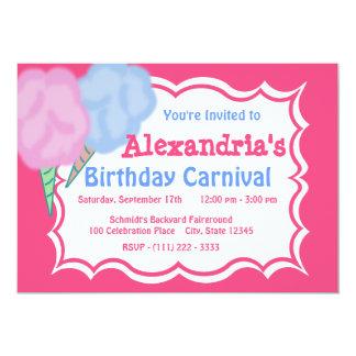 """Cumpleaños del carnaval invitación 5"""" x 7"""""""