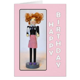 Cumpleaños del cascanueces del estilista feliz tarjeta de felicitación