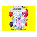 Cumpleaños del cerdo del vuelo postal