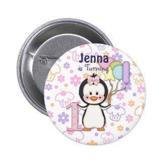 Cumpleaños del chica de Cutie- del pingüino primer