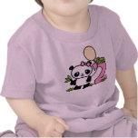 Cumpleaños del chica de la panda 2do camisetas