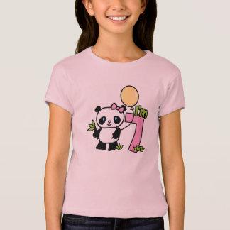 Cumpleaños del chica de la panda 7mo playera