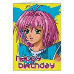 Cumpleaños del chica del animado felicitacion