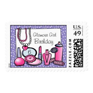Cumpleaños del chica del encanto (paladio) timbre postal