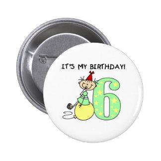 Cumpleaños del chica del palillo 6to pin