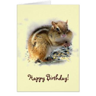 Cumpleaños del Chipmunk Tarjeta De Felicitación
