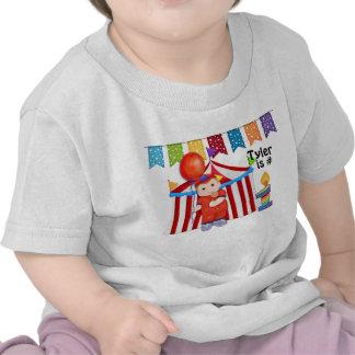 Cumpleaños del circo del lunar primer camiseta