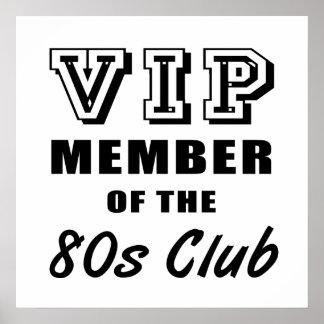 cumpleaños del club de los años 80 posters