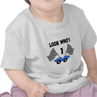 Cumpleaños del coche de carreras camisetas