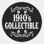cumpleaños del coleccionable 90.o de los años 10 etiqueta redonda