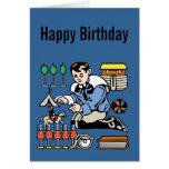 Cumpleaños del colector del juguete tarjeta