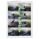 Cumpleaños del collage de las personas que practic tarjetas