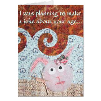 Cumpleaños del conejito del polvo - conejitos del  tarjeta de felicitación