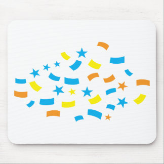 Cumpleaños del confeti alfombrillas de ratón