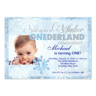 Cumpleaños del copo de nieve de ONEderland del Invitación Personalizada