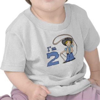 Cumpleaños del cordelero del vaquero 2do camisetas