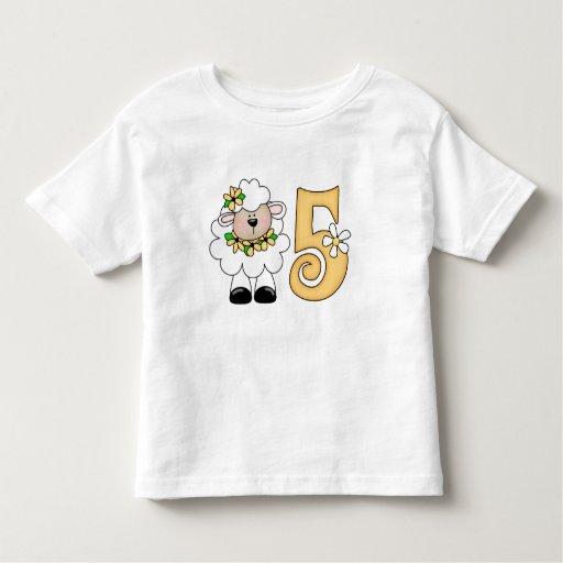 Cumpleaños del cordero de la margarita 5to camisas