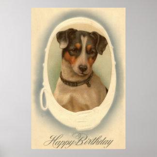 Cumpleaños del cuello de Jack Russell Terrier Impresiones