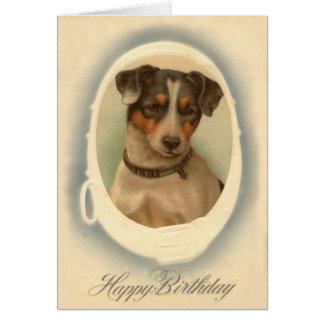 Cumpleaños del cuello de Jack Russell Terrier Tarjeta De Felicitación